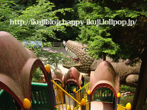 わんぱく王国 ローラー滑り台 公園 恐竜