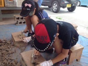 元気村かみくげ 化石発掘体験