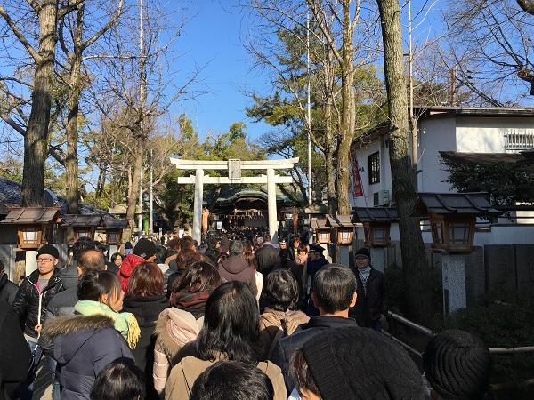 石切剣箭神社 初詣 ゴマ木