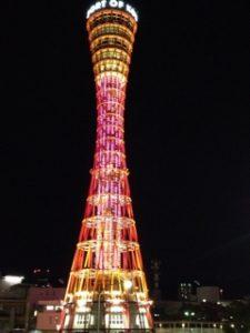 ピンクリボン 神戸ポートタワー ライトアップ イルミネーション