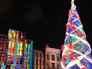 usjクリスマスツリーイルミネーション