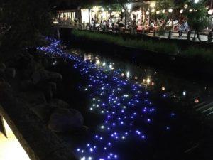 西宮神社 えびす万灯籠 サマーイルミネーション 天の川