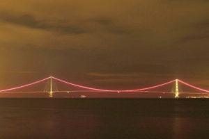 明石海峡大橋 ピンクリボン
