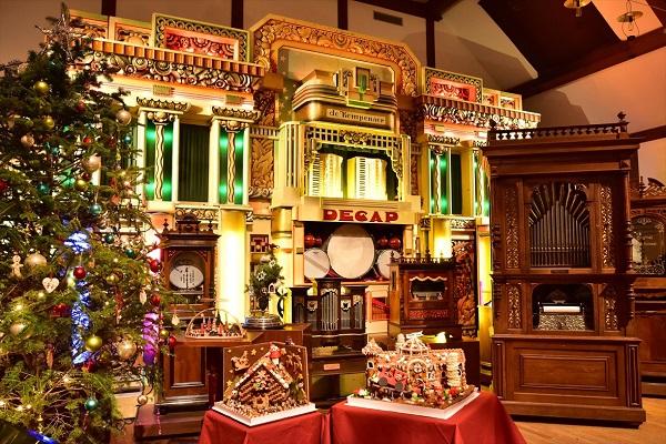六甲オルゴールミュージアム ヘンゼルとグレーテルとお菓子の家 クリスマス