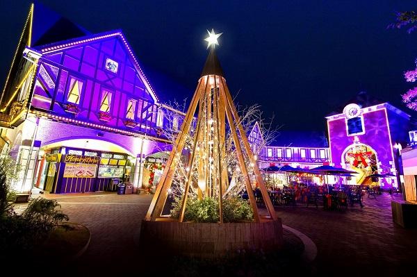 布引ハーブ園 古城のクリスマス イルミネーション