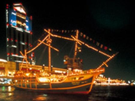 帆船型観光船サンタマリア カウントダウンクルーズ デートスポット