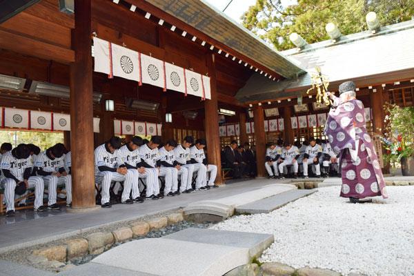 廣田神社 阪神タイガース隆盛必勝祈願祭
