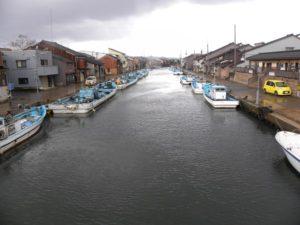 人生の約束 映画ロケ地 射水市船の水路