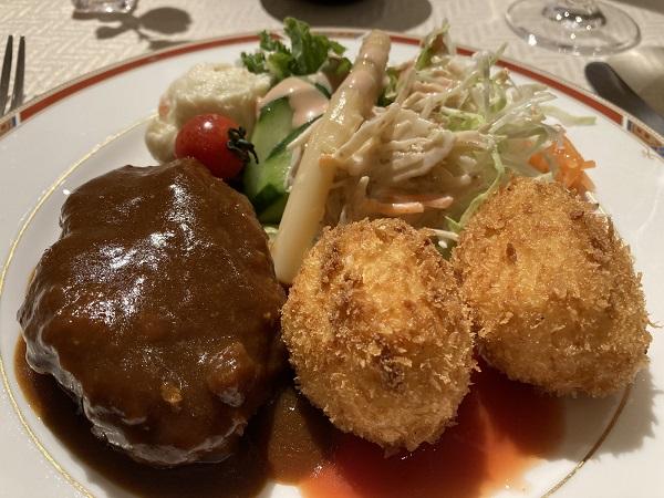 開晴亭 洋食 フレンチ ビフカツ カニクリームコロッケ