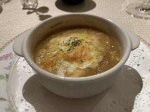 開晴亭 洋食 フレンチ オニオングラタンスープ